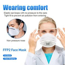 100 Uds. Máscaras FFP2 antipolvo cubierta de boca no tejida protectora máscaras de seguridad respirables antipolvo PM2.5 bacterias KN95 cubierta de boca
