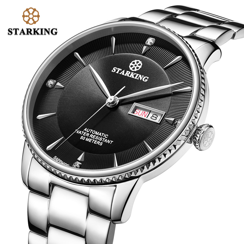 <font><b>STARKING</b></font> <font><b>Automatic</b></font> Mechanical Business Watch men Seiko NH36 Movt <font><b>Sapphire</b></font> Crystal Stainless Steel Waterproof 50M Wristwatches image