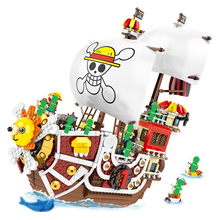 2019 New 1484pcs Sunny Pirate Ship Monkey D Luffy  Building Blocks Educational Toys For Children