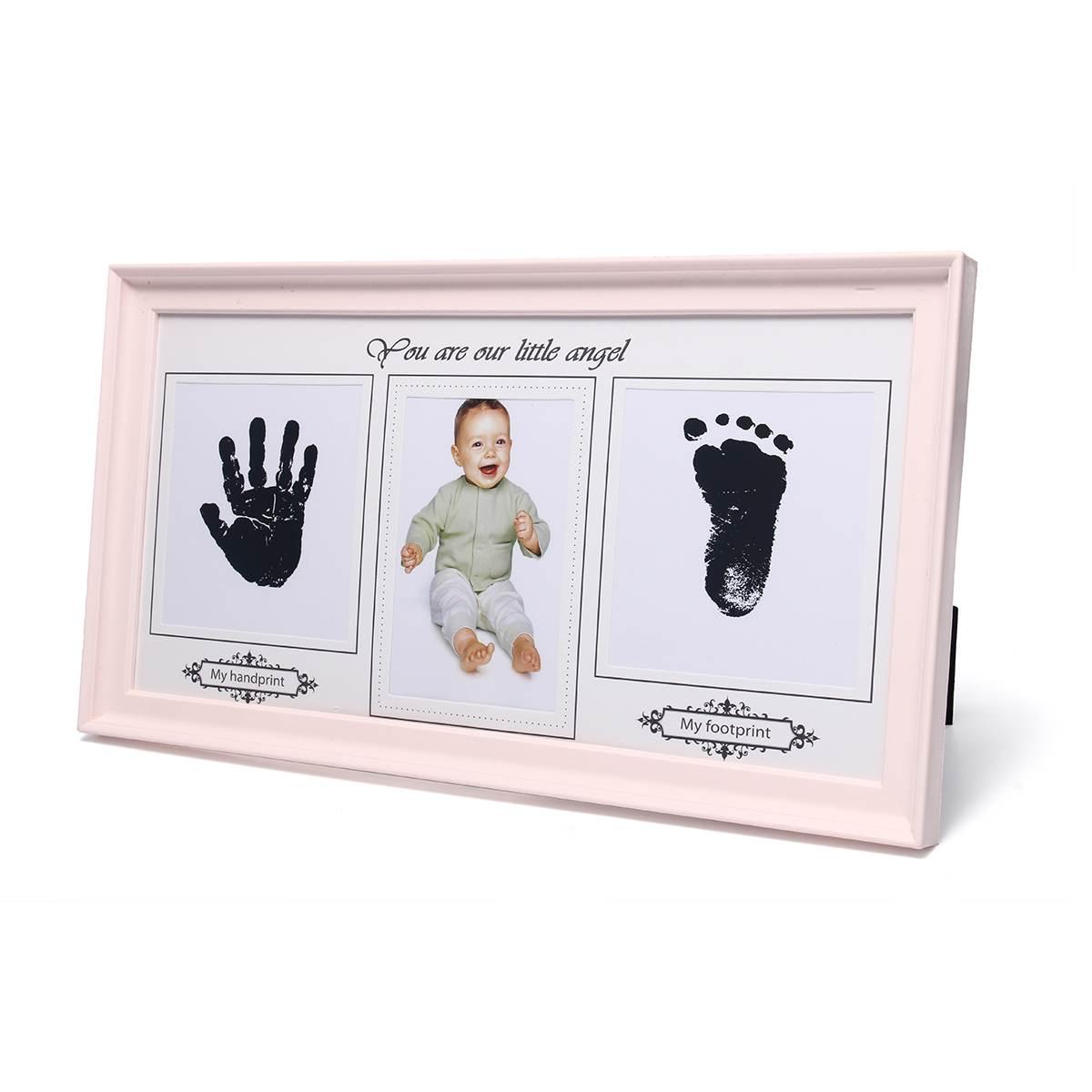 Photo-Frame Keepsake Gift Baby Photo-Frame Inkpad Cast-Set Ink-Pad-Toys Imprint-Kit Storage Inkless Memento