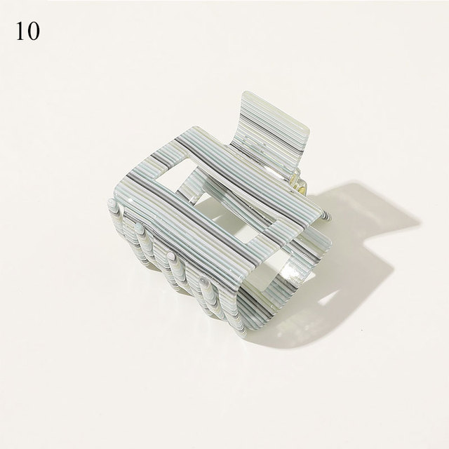 Details about  /Geometric Hair Clip Hair Claws Acetic Acid Square Acrylic Hair Clamps Crab New