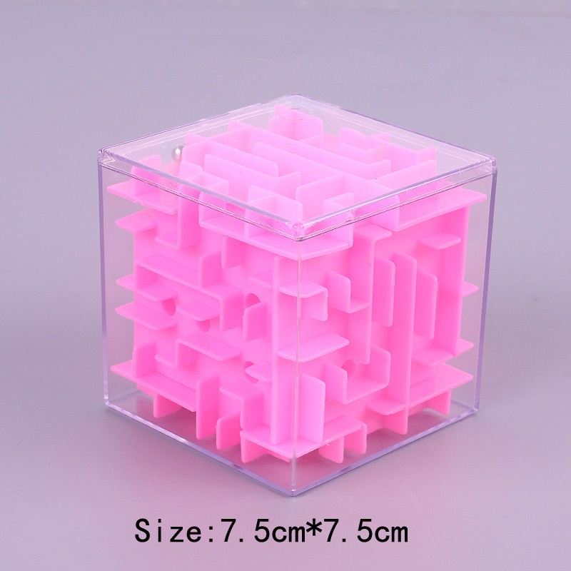 TOBEFU 3D Maze Magic Cube Transparent Six-sided Puzzle Speed Cube Rolling Ball Game Cubos Maze Toys for Children Educational 8