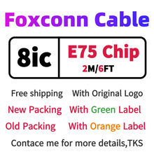 10pcs lot aaaaa quality aluminum mylar sync data cable 2m 6ft usb charging cable for foxconn phone with new packaging 100pcs/Wholesalelot Genuine Original 8ic 2m/6ft E75 Chip Sync Data USB charger Cable for Foxconn with newest packing Green label