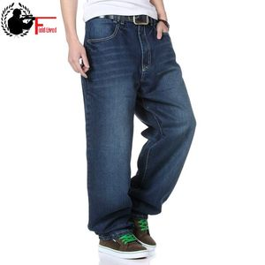 Image 2 - Mens Streetwear Taper Jeans Loose Plus Size Palazzo Pants Harem Straight Pants Trouser Male Denim Baggy Hip Hop Wide Leg Jeans
