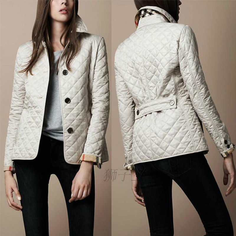Chic Turn Down Collar Long Sleeved Jacket Lapel Single-breasted Slim Warm Cotton Spinning Suit Coat Parka Cardigan Tops 2019