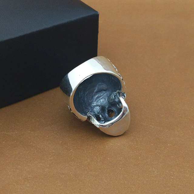 ORIGINAL 925 STERLING SILVER SKULL ROSE RING
