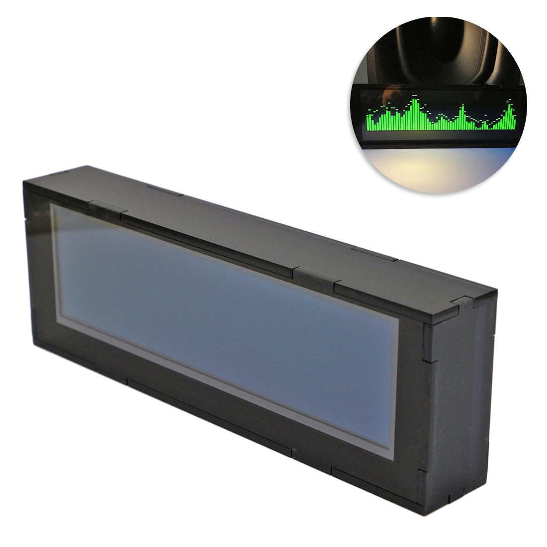5.5 Inches AS256 Professional Music Spectrum Display Car Amplifier Audio Modification OLED Level Balance Indicator-Green Display