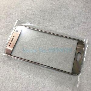 Image 5 - Yedek harici cam Samsung Galaxy S7 G930 S7 kenar G935 LCD ekran dokunmatik ekran ön dış cam Lens