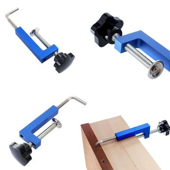цена на Adjustable Universal Woodworking G Clamp Fence Clip Quick Fixed Clamp Useful Fast Fixture Grip Clip Aluminium Alloy Hand  G8TB