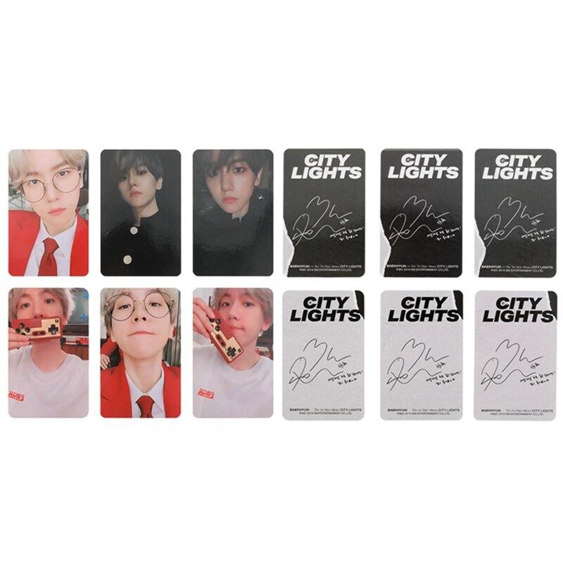 Baru Kpop EXO Baekhyun Kota Solo Lampu Album LOMO Kartu K POP Baru Fashion Diri Membuat