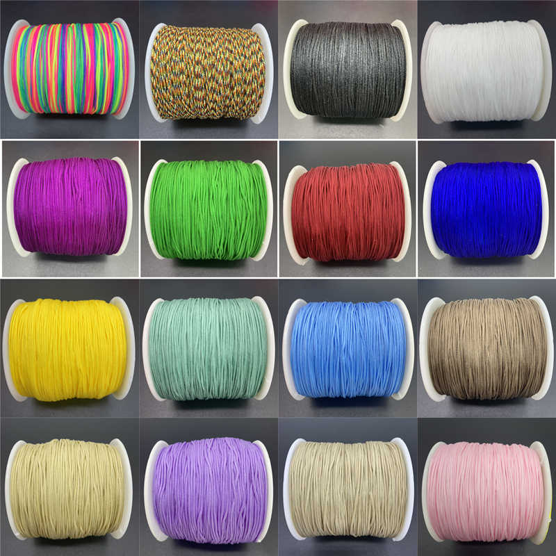 10yards/Lot 0.8mm Colorful Nylon Cord Rope Chinese Knot Macrame Cord Rope For Jewelry Making For Shamballa Bracelet
