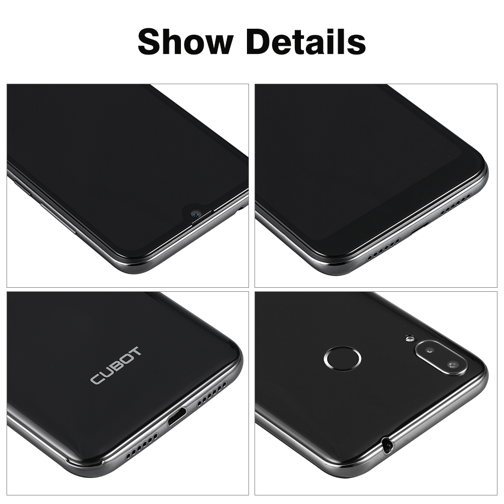 Cubot R19 3GB+32GB Smartphone 5.71'' Android 9.0 Quad Core Fingerprint Water Drop Screen Face ID Mobile Cell Phone - 5