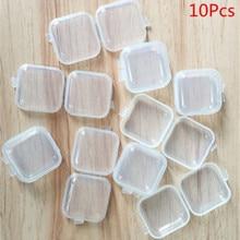 Transparent Plastic Container Storage-Box Medicine Jewelry Separate Earplugs Small Mini