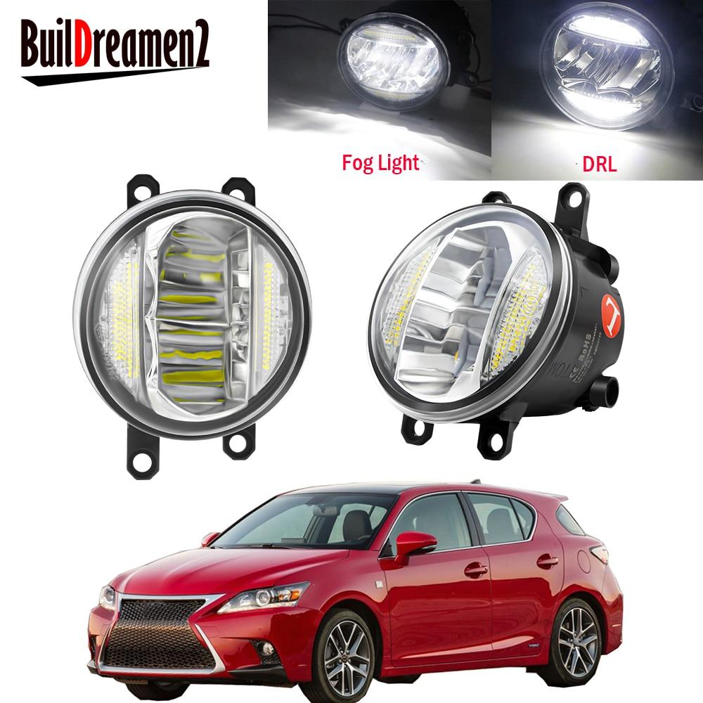 2 adet araba ön tampon LED sis işık meclisi gündüz farı DRL 30W 8000LM 12V Lexus CT200h 2011 2012 2013 2014