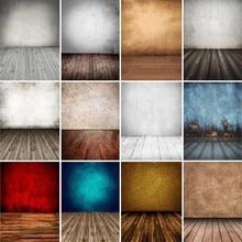 Vinyl Photography Backgrounds Gradient Grunge Wooden Floor Solid Color Baby Portrait Backdrops For Photo Studio Photophone Props