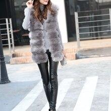 Fur Vest Coat Women Faux-Fur Fashion Ladies Winter for New Female Gilet Jacket