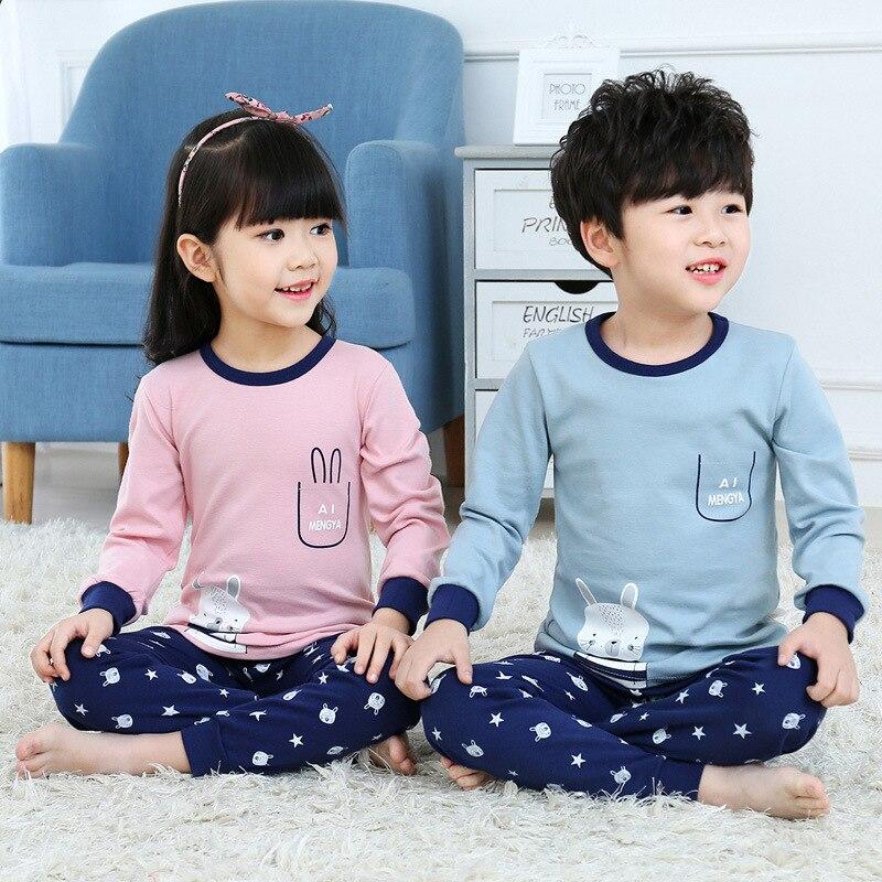 Kids Pajamas Children Sleepwear Rabbit Boys Girls Pajamas Set Cotton Kids Clothes Nightwear Toddler Animal Pyjamas Baby Pijamas 4