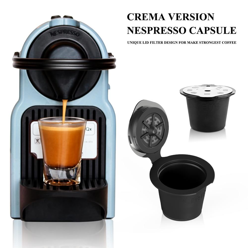 New Version Capsule + Tamper 3 Nespresso C/ápsulas Filtros Acero inoxidable de Caf/é Recargable Rellenables Reutilizable para Nespresso Cafeteras Nespresso 3 pcs con 1 cuchar/ón de pl/ástico y 1 cepillo