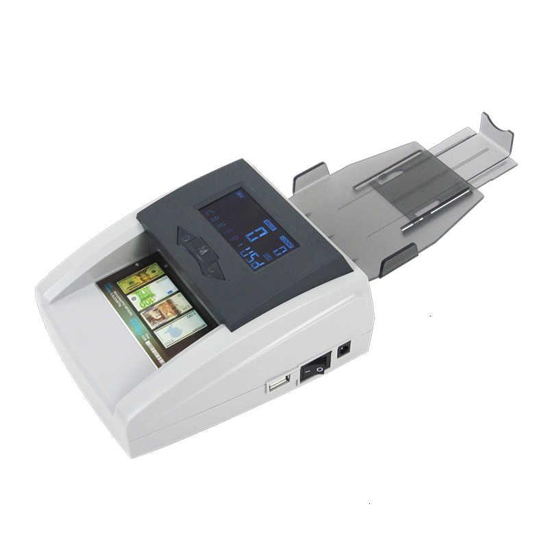 Detector de billetes falsos luz uv contador de dinheiro máquina euro/usd/gbp/chf/rublo falso contador de dinheiro máquina portátil detector de dinheiro