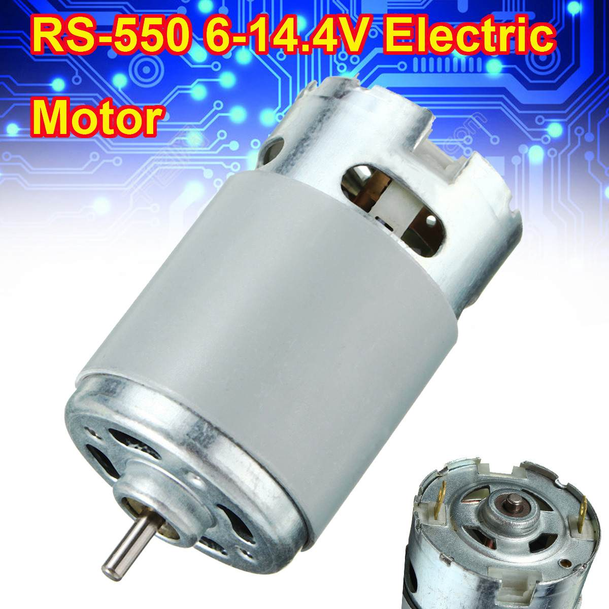 RS-550 Motor 6-14.4V 3.65A For Various Cordless Screwdriver Motors 22800/min Replacement Electric Drill Driver Screwdriver