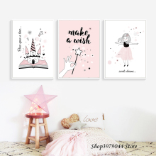 Nordic Style Kids Decoration Poster Baby Girl Bedroom Decor Cuadros Photo Posters Print Cartoon Wall Art Canvas Painting Unframe