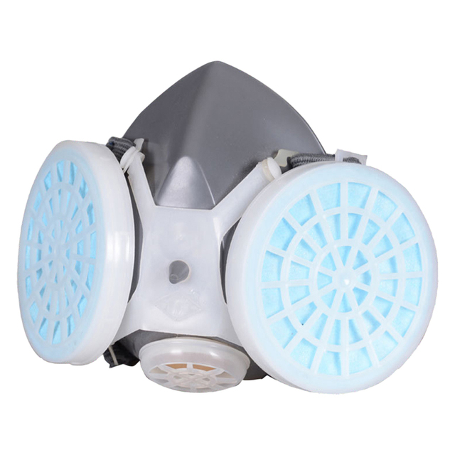 Anti flu Anti Virus Mask Double Filter Gas Mask Painting Spraying Anti Dust Fog Haze Facepiece Respirator Protective mask 4