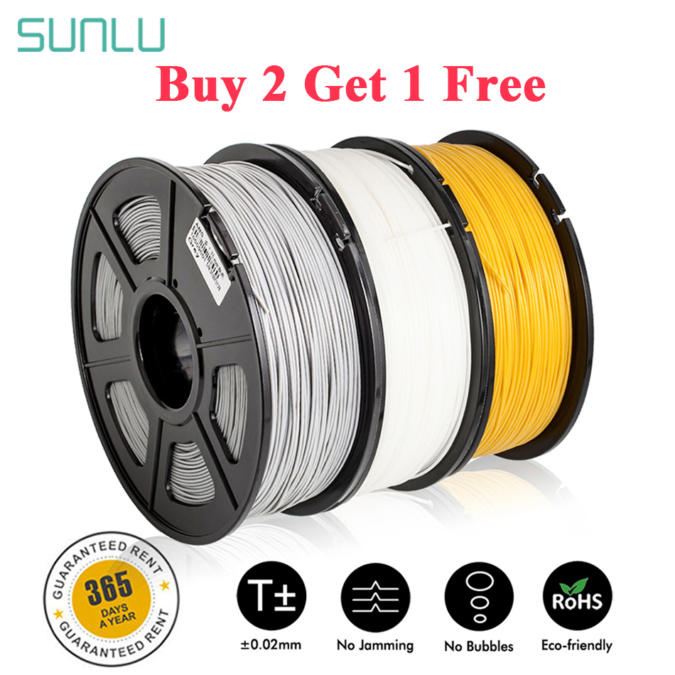 SUNLU 3D Filament 1.75mm 1kg ABS PLA 3D Printer Printing Material Plastic PLA Writing Pad