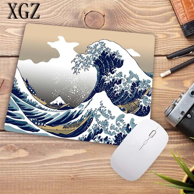 XGZ Great Waves Art Mousepad Large Size Gaming Keyboard Mouse Pad Computer Laptop Pc Game for CSGO DOTA LOL Gamer with Lock Edge 4