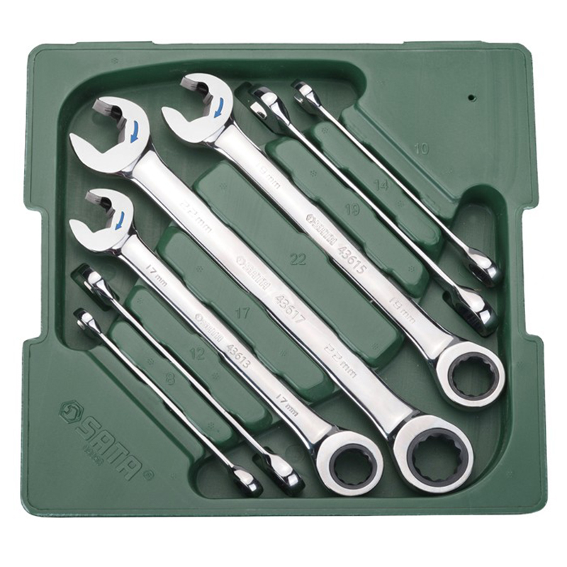 For Keys (set) 7пр. Combined with трещот./mechanism (Metric) Plast. CTN. 09050