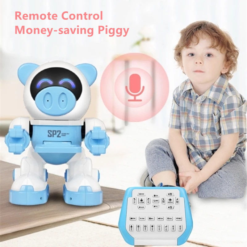 Smart Financial Management Save Money Remote Control Piggy Voice Record Programming Music Dancing Educational Children's RC Toys