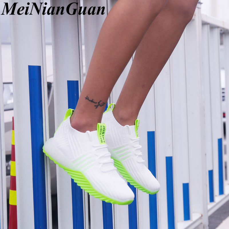 Non-slip Sport Shoes For Women Summer Women's Sneakers Mesh Woman Sport Simple Jogging Shoes Low Top Breathable Running Shoes B6