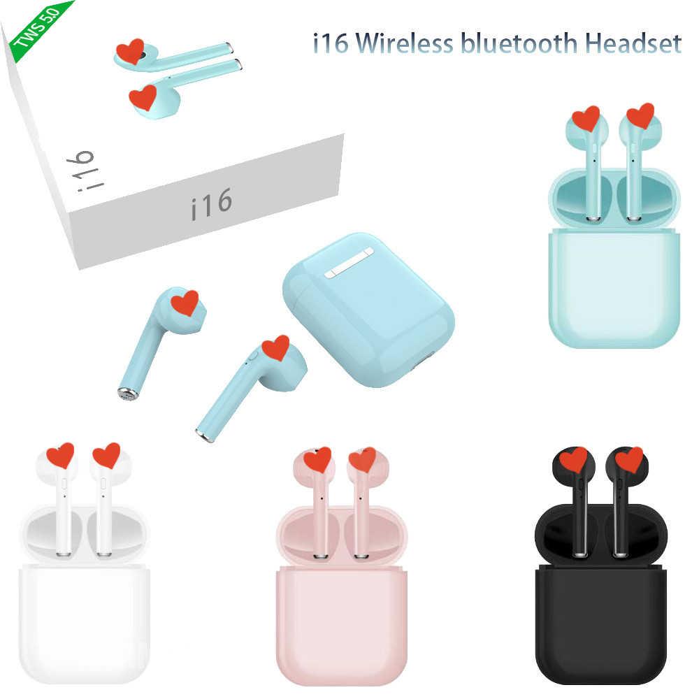 I16 TWS Беспроводные Bluetooth 5,0 наушники с сенсорным управлением, Спортивная мини-гарнитура с защитой от пота, портативные наушники для i15 i14 i13 i19