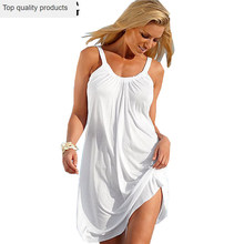 Vrouwen Zomer Jurk 2020 Sex Backless Tanks Bodycon Strap Jurken Mouwloze Losse Casual Basic Tops Strand Jurk Vestidos LX1671(China)