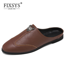 Slippers Half-Shoes Mules Handmade Men Summer Man Outdoor Lightweight Breathable FIXSYS