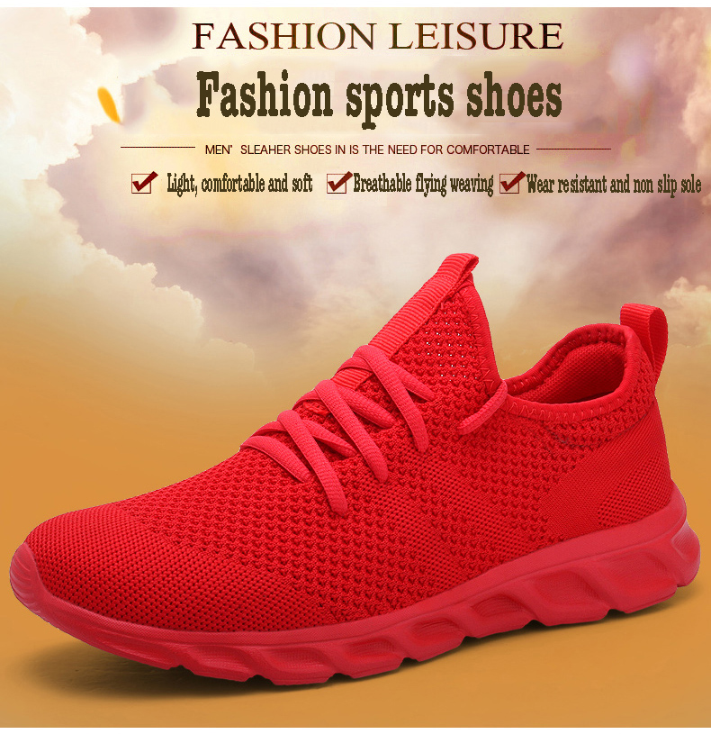 Hd6d35216cdf94c8192ad9f10a33bcc3cq Men Light Running Shoes Flyknit Breathable Lace-Up Jogging Shoes for Man Sneakers Anti-Odor Men's Casual Shoes Drop Shipping