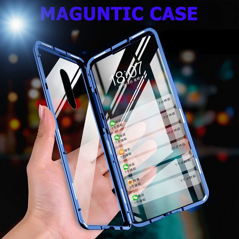 Luxury armor Tempered Glass Case for OnePlus 7 Pro Double Sided Glass Cases for OnePlus 6T 7T OnePlus 7 antichoc Crystal Case