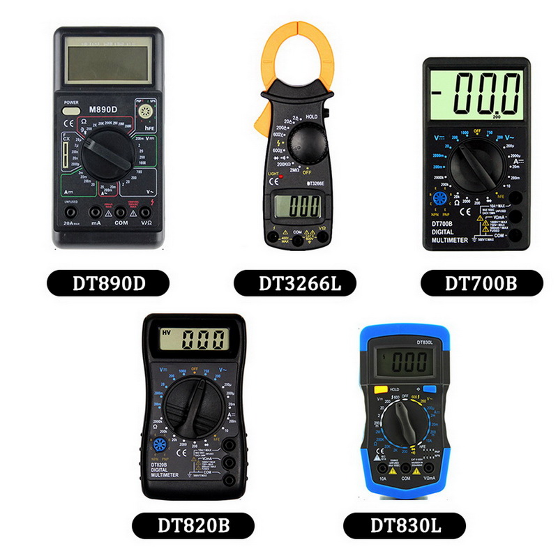 DIDIHOU LCD Digital Portable Multimeter AC <font><b>DC</b></font> Ammeter Resistance Tester Series High Precision Handheld Multimeter image