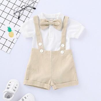 Najlepsze i najlepsze zestawy ubranek dla niemowląt niemowlęta nowonarodzone chłopięce ubrania spodenki rękawy topy + kombinezony 2 szt Stroje letnie Bebes odzież tanie i dobre opinie COTTON POLIESTER W wieku 0-6m 7-12m 13-24m 25-36m 3-6y 7-12y 12 + y CN (pochodzenie) Mężczyzna Na co dzień Wykładany kołnierzyk