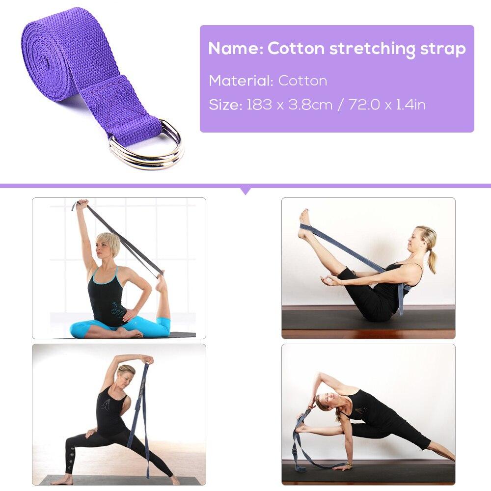 2pcs EVA Yoga Blocks 1pcs Cotton Yoga Strap Stability Blocks Yoga Strap Set H8U7