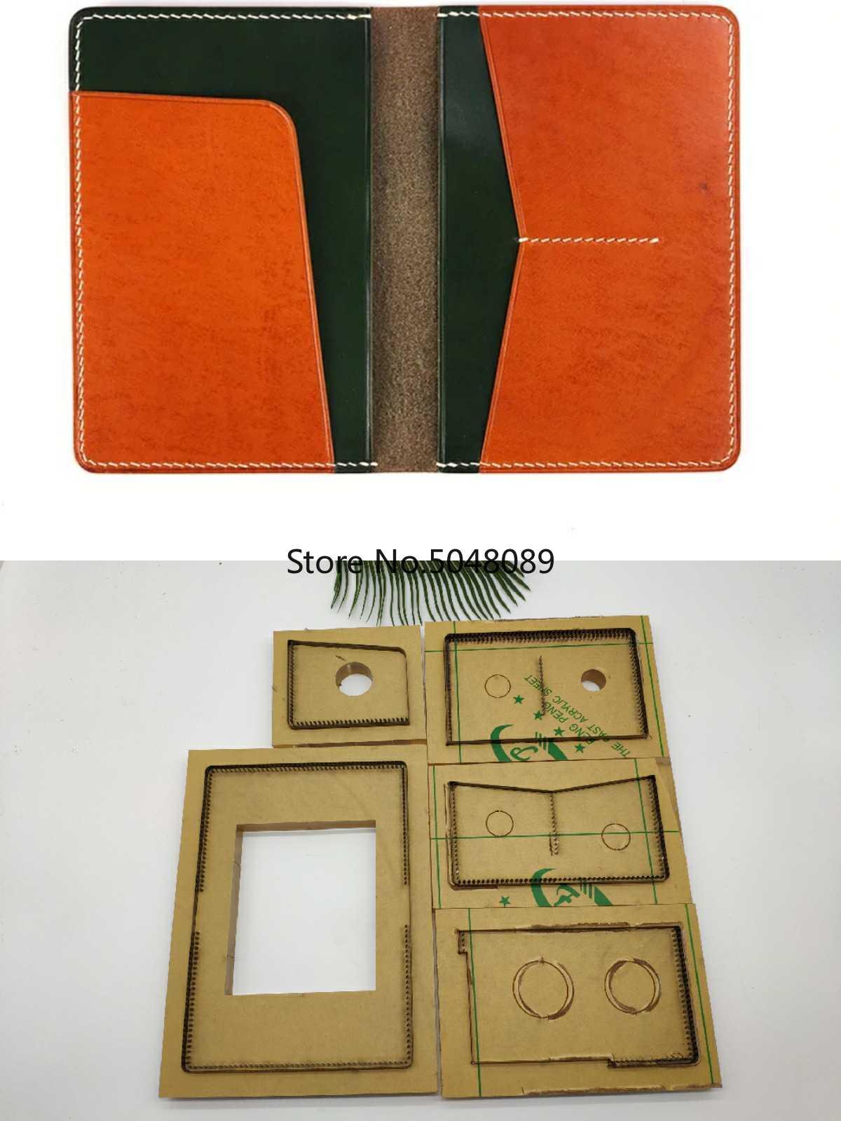 Japon acier lame règle métal Die Cutter poinçon outil passeport sac coupe moule bois meurt modèle pour bricolage en cuir artisanat 105x140mm
