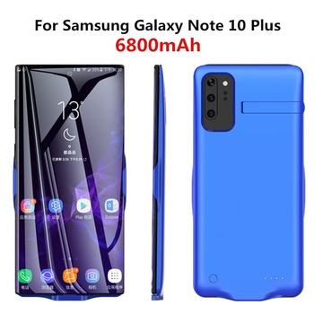 6800mAh Portable PowerBank For Samsung Galaxy Note 10 Plus External Power Charging Case Backup Battery Charger Cover Coque 6500mah ultra thin fast charger battery case for samsung note 8 external power bank case for samsung galaxy note 8 charging case