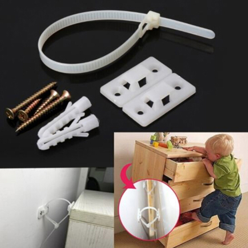 Baby Safety Anti-Tip Straps For Flat TV And Furniture Wall Strap Lock Protection Prevent Tilt From Children Products For Kids