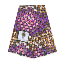 Wax-Fabric African Nigerian Gahana 6-Yards for Dress Block-Print Veritable Sewing Real