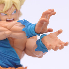 Dragon Ball Super Saiyan Son Goku Kakarotto Shock PVC Anime Action Figure Toys Dragon Ball Z Figurine Collectible Model стоимость