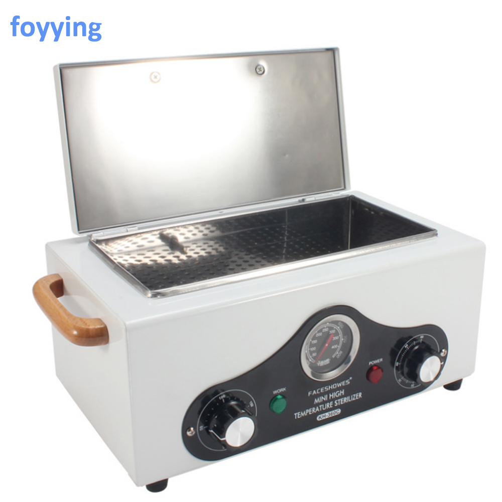 foyying High Temperature Electric Manicure Nail Tool Sterilizer Box Disinfection Cabinet Portable Equipment Sterilizing Tool