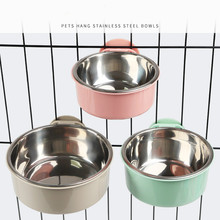 Dog-Bowl Hanging Drinking-Water-Bottles Stainless-Steel Products Puppy Food-Feeders Small