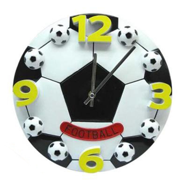 Creative Football Living Room The Bedroom Wall Clock Fashion Modern Clocks Decoration Clock Mute Wall Clock Gift Digital 25X03