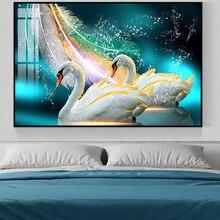 Алмазная вышивка Стразы «сделай сам», картина с изображением лебедя из животных, полное украшение для стен, подарок на день Святого Валенти...