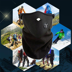 Image 5 - Motorcycle Half Face Mask Cover Fleece Unisex Ski Snow Moto Cycling Warm Winter Neck Guard Scarf Warm Protecting Maske