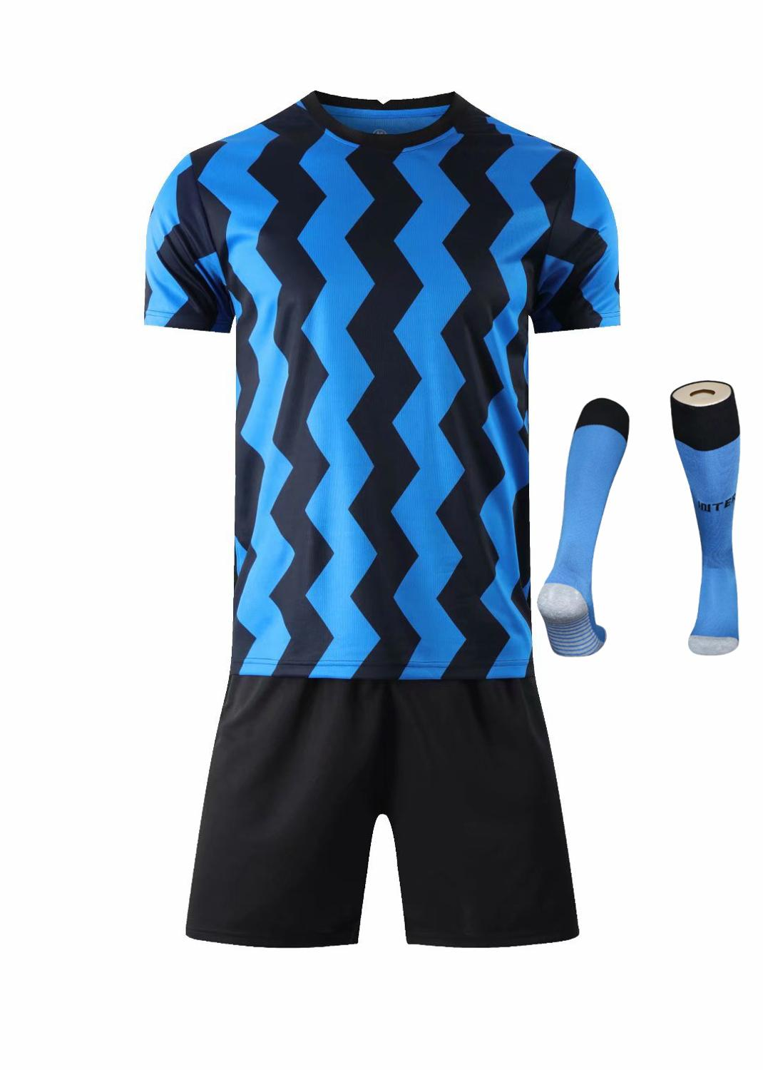 Children Sets football uniforms boys and girls sports kids youth training suits blank custom print soccer set with socks 19